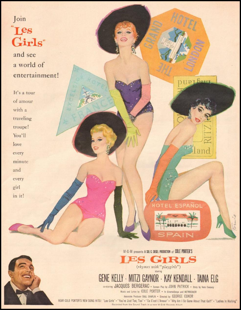 LES GIRLS LOOK 10/29/1957 p. 50