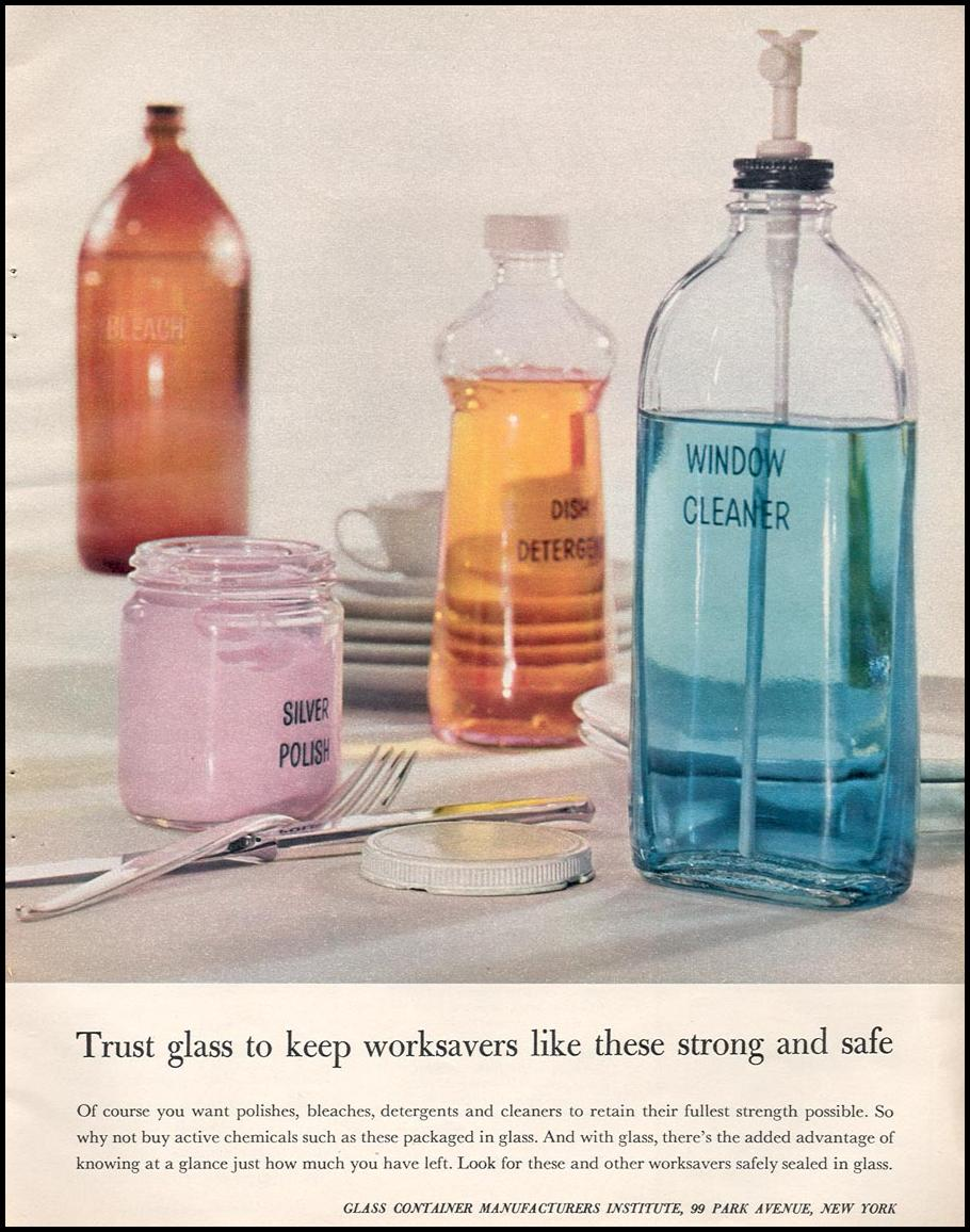GLASS CONTAINERS WOMAN'S DAY 04/01/1956 p. 71