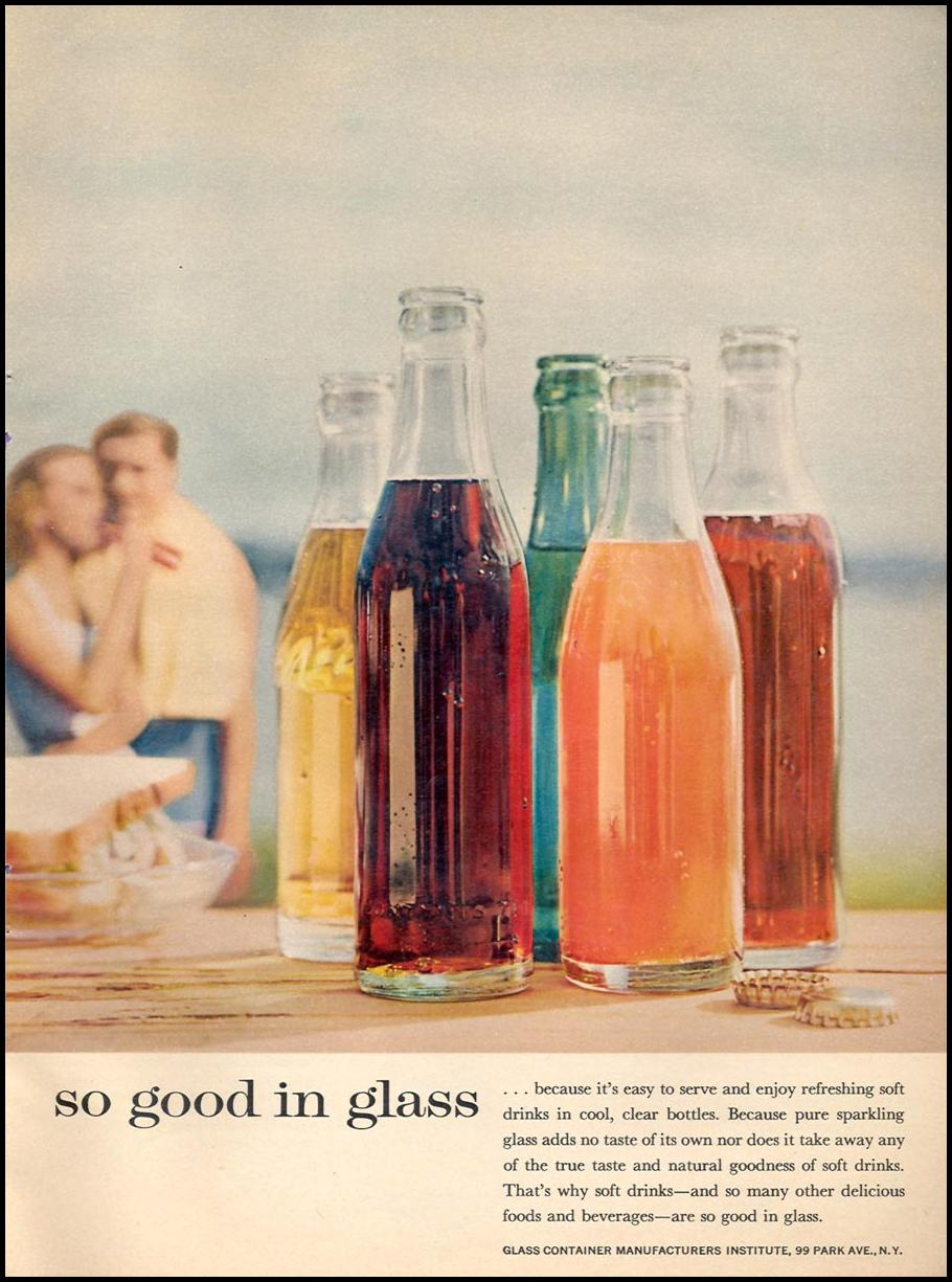 GLASS CONTAINERS WOMAN'S DAY 06/01/1958 p. 19