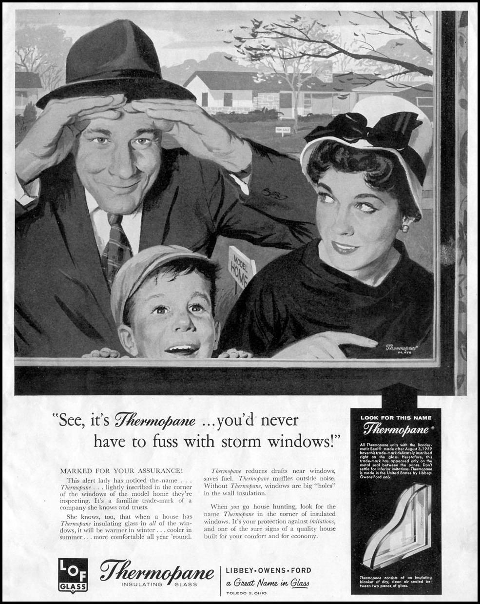 LOF THERMOPANE INSULATING GLASS SATURDAY EVENING POST 08/15/1959