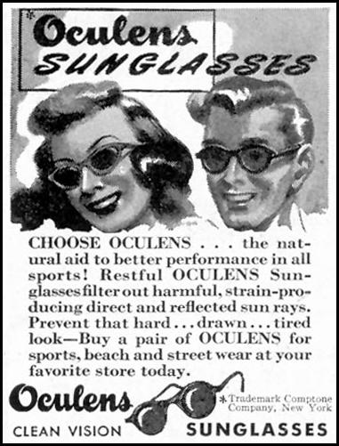 OCULENS SUNGLASSES SATURDAY EVENING POST 05/19/1945 p. 74