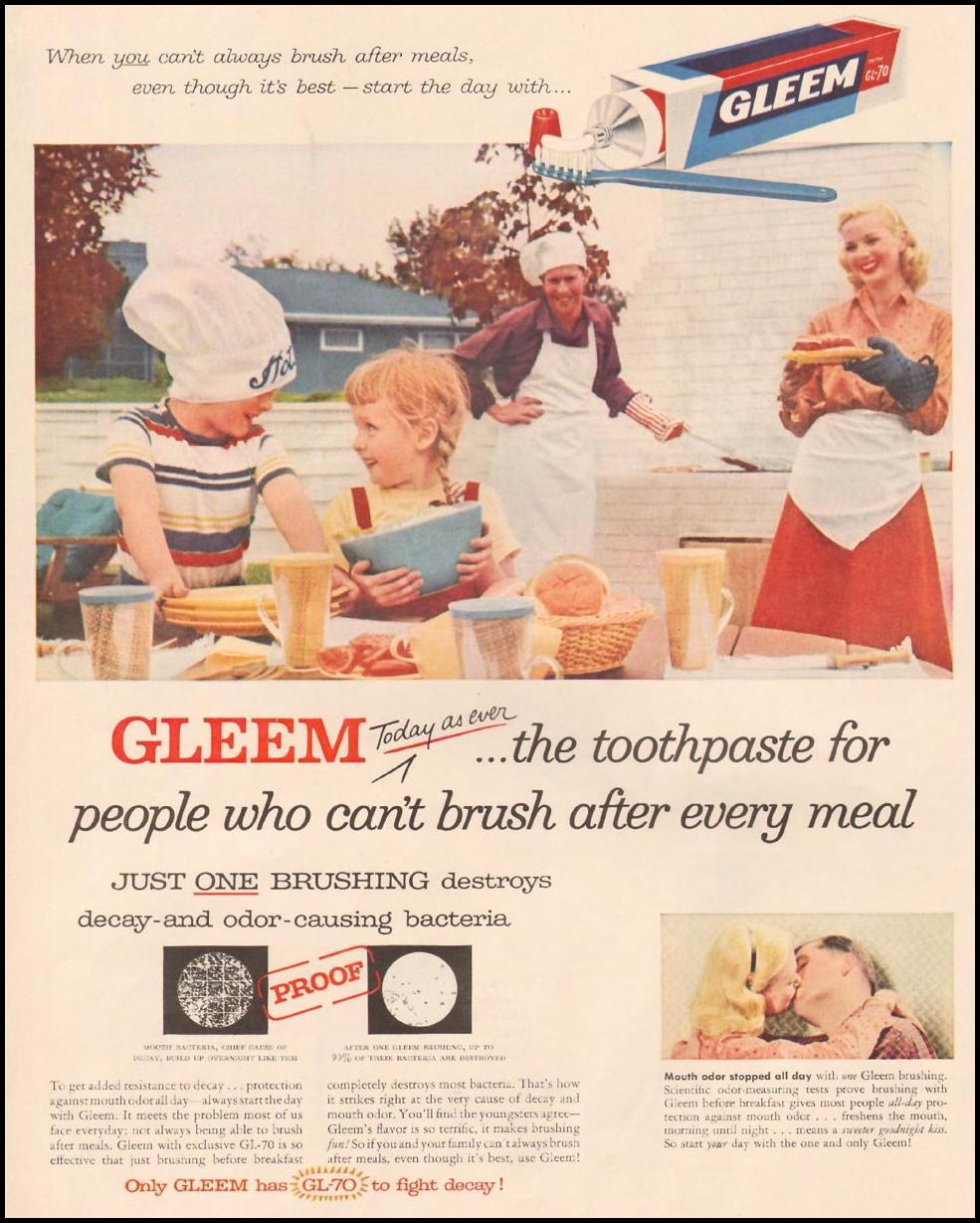 GLEEM TOOTHPASTE LIFE 09/09/1957 p. 66