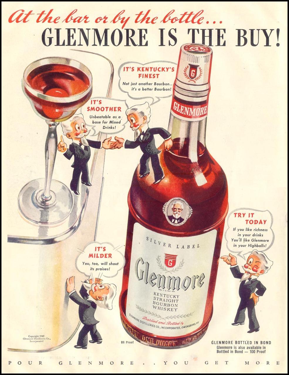 GLENMORE BOURBON LIFE 11/30/1942