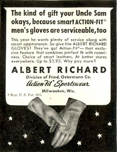 ALBERT RICHARD GLOVES LIFE 11/30/1942 p. 122