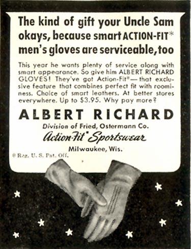 ALBERT RICHARD GLOVES LIFE 11/30/1942 p. 122