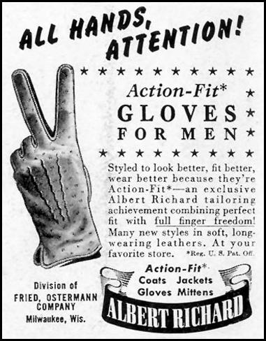 ALBERT RICHARD ACTION-FIT GLOVES LIFE 11/08/1943 p. 92