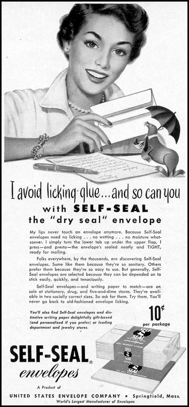 SELF-SEAL ENVELOPES WOMAN'S DAY 11/01/1949 p. 94