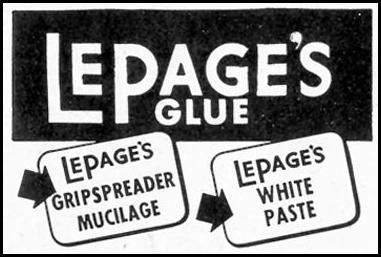 LEPAGE'S GLUE SATURDAY EVENING POST 05/19/1945 p. 98