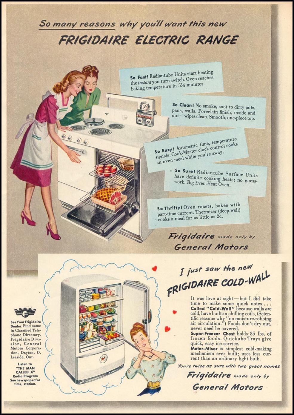 FRIGIDAIRE KITCHEN APPLIANCES WOMAN'S DAY 09/01/1947 p. 64