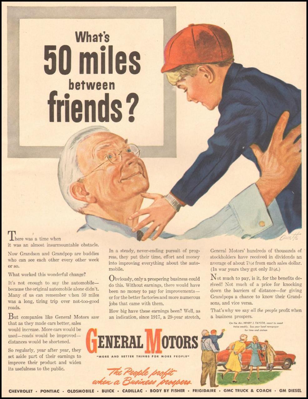 GENERAL MOTORS AUTOMOBILES LIFE 11/25/1946
