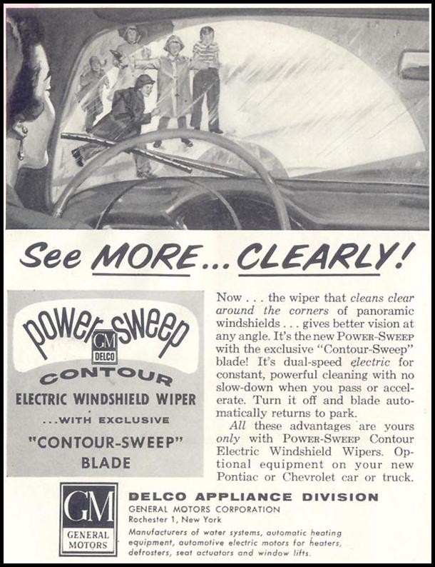 DELCO WINDSHIELD WIPERS SATURDAY EVENING POST 12/10/1955 p. 112