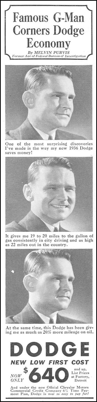 DODGE AUTOMOBILES GOOD HOUSEKEEPING 04/01/1936 p. 198