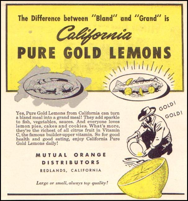 CALIFORNIA LEMONS WOMAN'S DAY 06/01/1946 p. 62