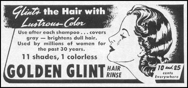 GOLDEN GLINT HAIR RINSE LIFE 04/17/1950 p. 158