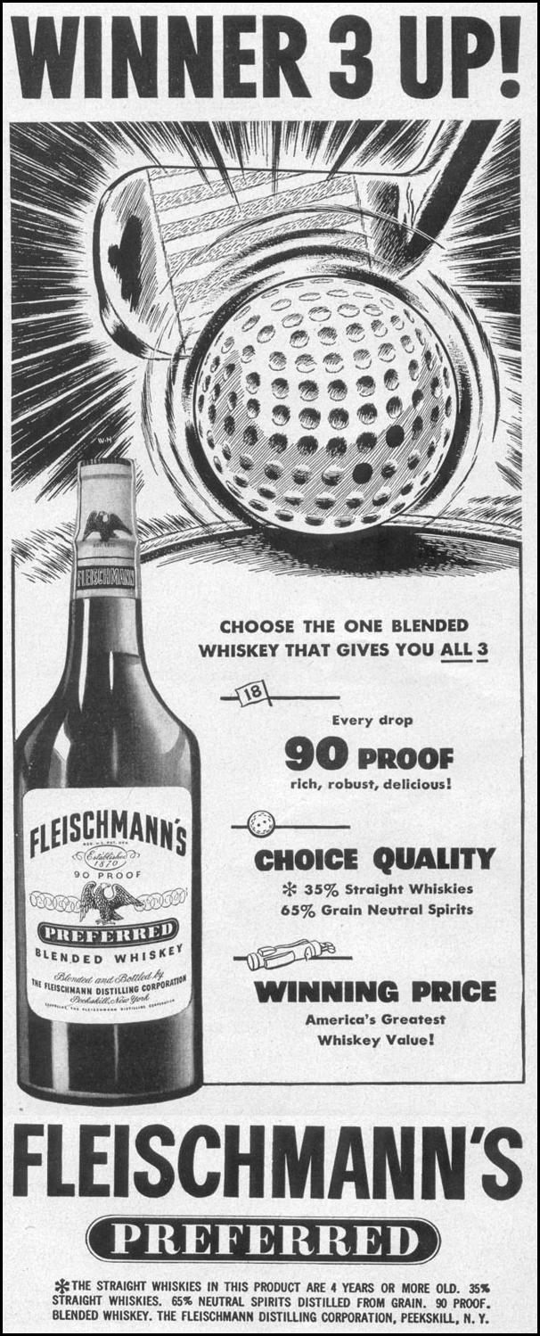 FLEISHMANN'S PREFERRED BLENDED WHISKEY LIFE 06/05/1950 p. 97
