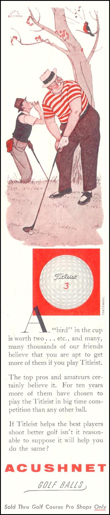 TITLELIST GOLF BALLS SATURDAY EVENING POST 08/15/1959 p. 3