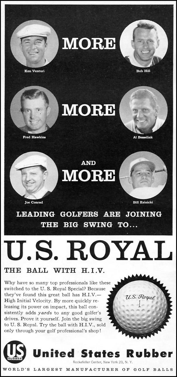 U. S. ROYAL GOLF BALLS SPORTS ILLUSTRATED 05/11/1959 p. 48
