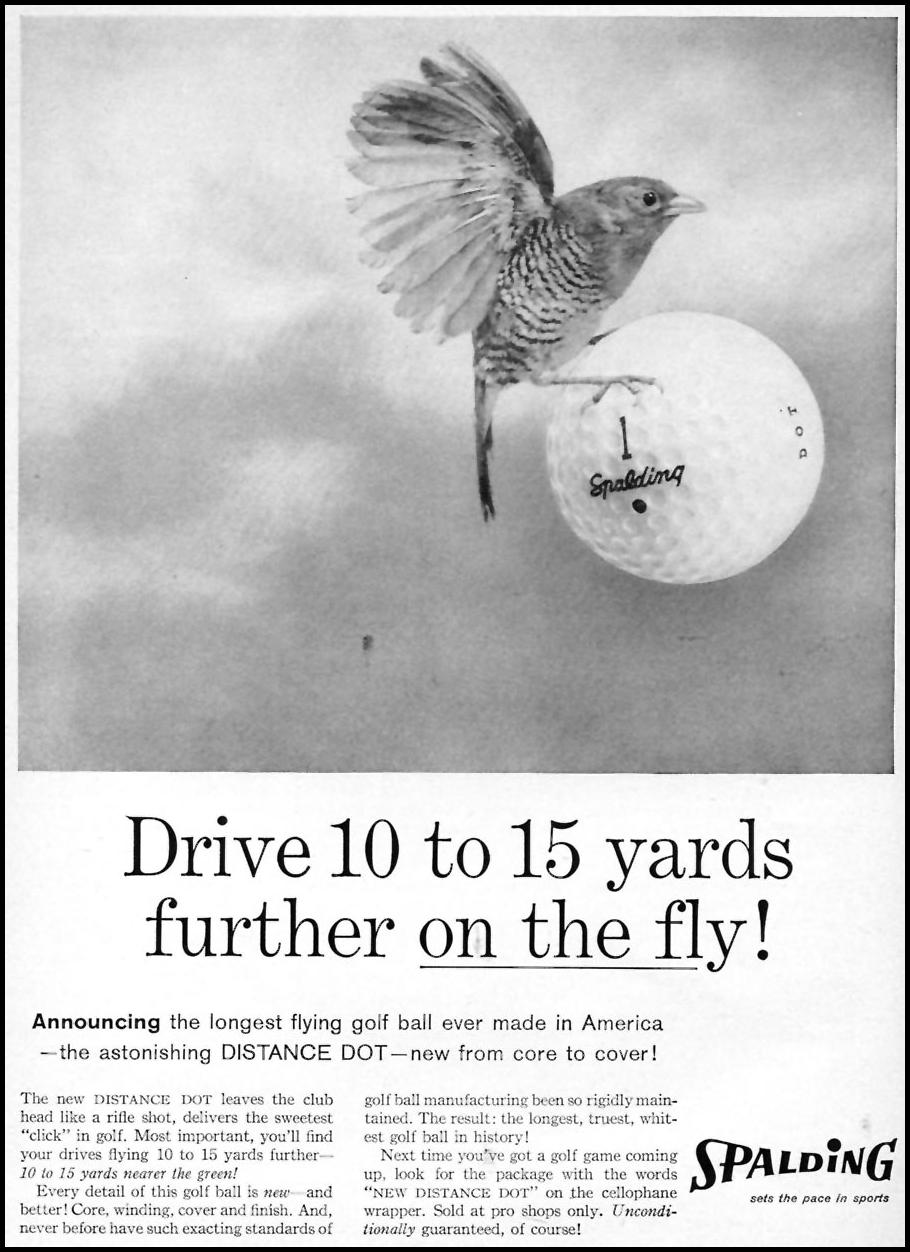 SPALDING GOLF BALLS SPORTS ILLUSTRATED 05/25/1959 p. 41