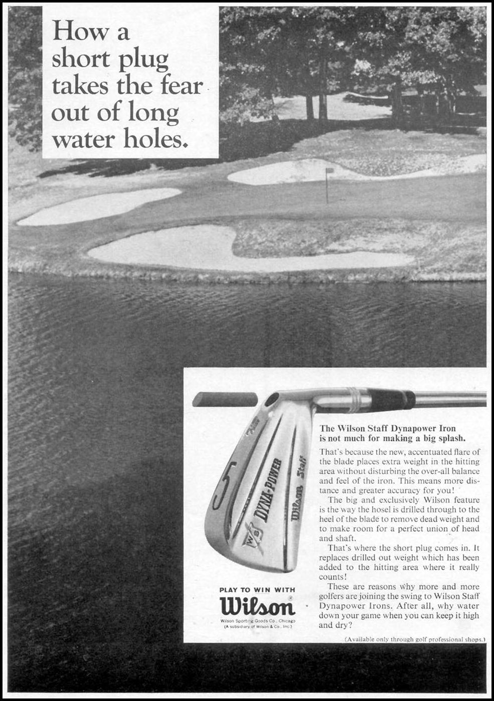 WILSON STAFF DYNAPOWER GOLF CLUBS TIME 04/21/1967 p. 112