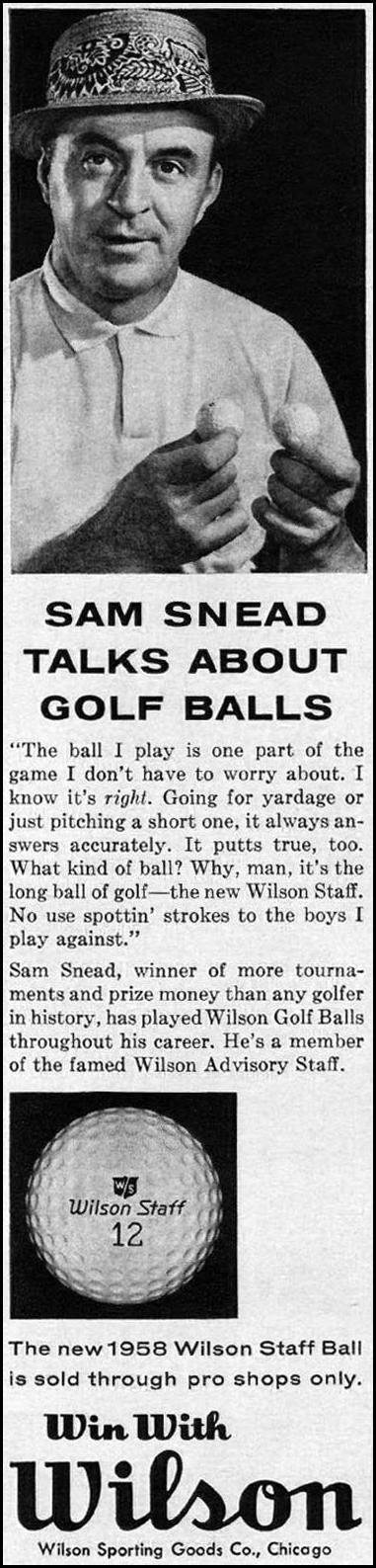 WILSON STAFF GOLF BALLS TIME 05/05/1958 p. 48