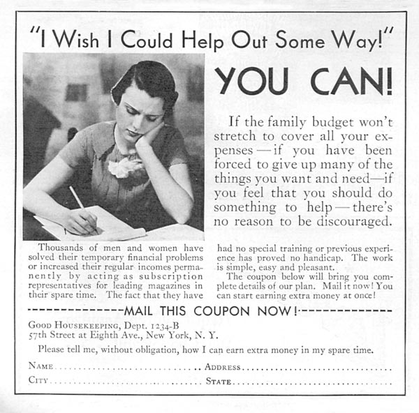 MAGAZINE SUBSCRIPTIONS GOOD HOUSEKEEPING 12/01/1934 p. 198