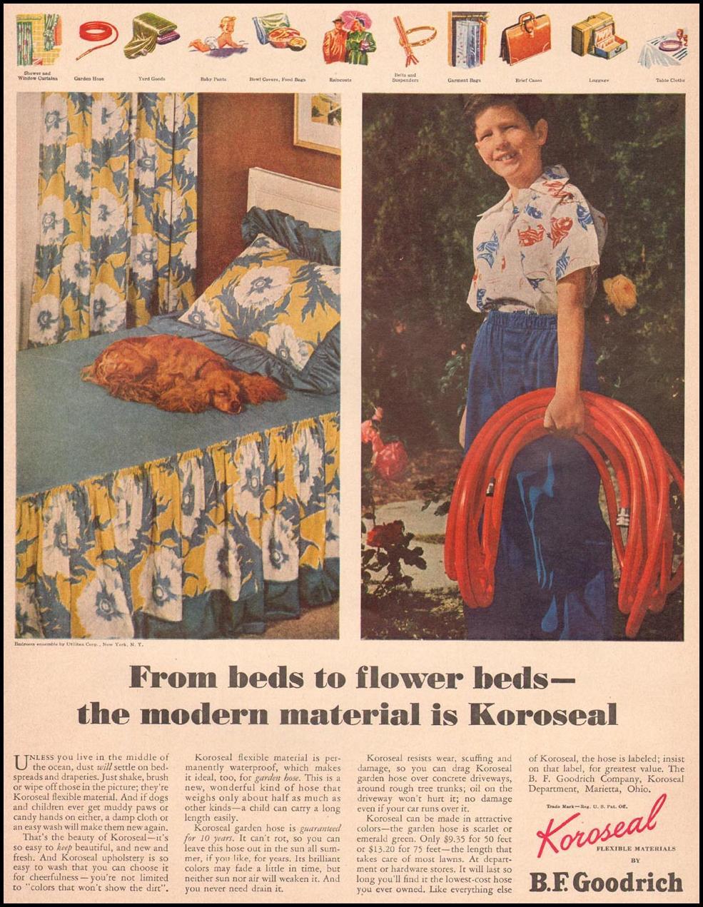 GOODRICH KOROSEAL FLEXIBLE MATERIAL LIFE 04/17/1950