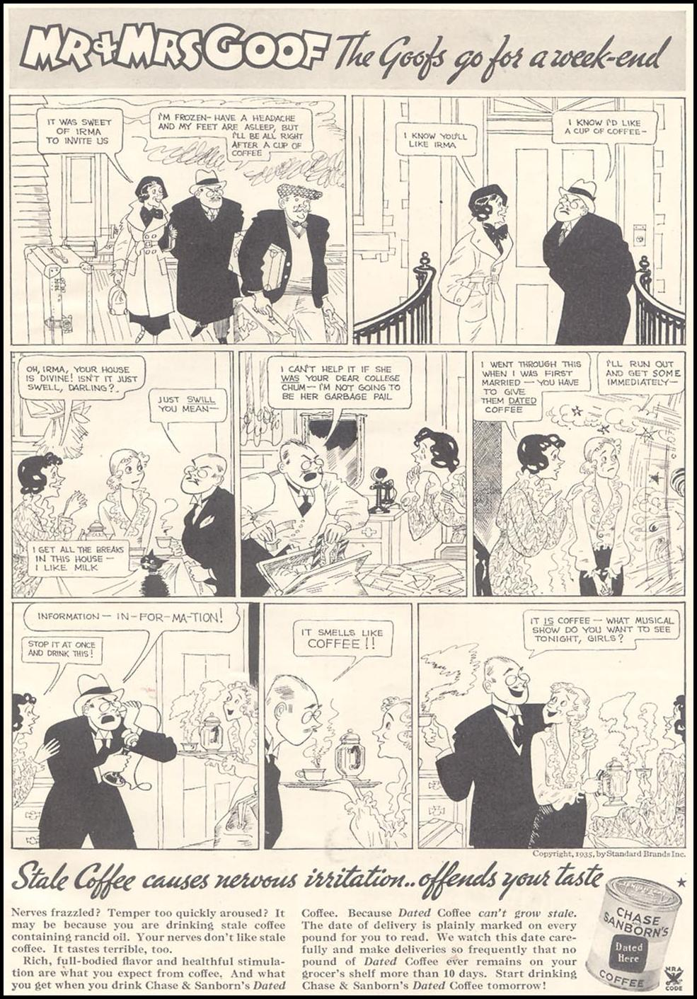 CHASE & SANBORN COFFEE GOOD HOUSEKEEPING 03/01/1935 p. 109