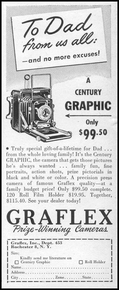 GRAFLEX CAMERAS LIFE 06/05/1950 p. 4