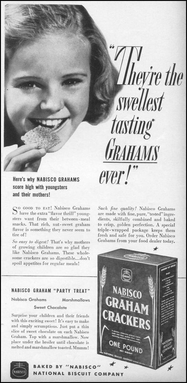 NABISCO GRAHAM CRACKERS WOMAN'S DAY 06/01/1941 p. 41