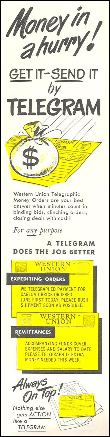 TELEGRAM SERVICE NEWSWEEK 06/11/1951 p. 79