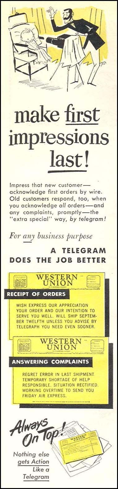 TELEGRAM SERVICE NEWSWEEK 08/20/1951 p. 76