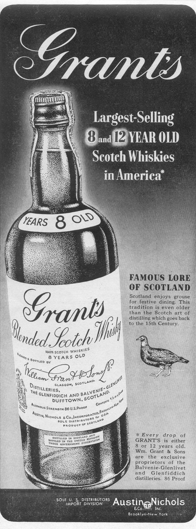GRANT'S BLENDED SCOTCH WHISKEY LIFE 12/27/1948 p. 84