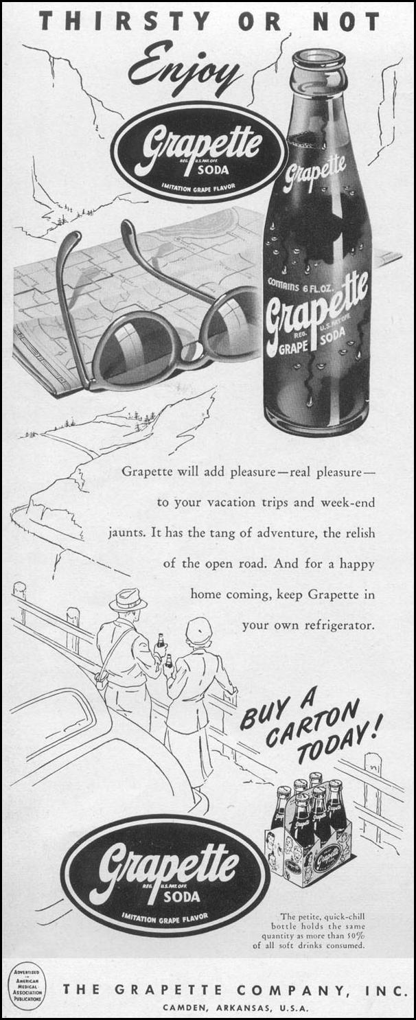 GRAPETTE GRAPE FLAVORED SODA LIFE 06/05/1950 p. 76