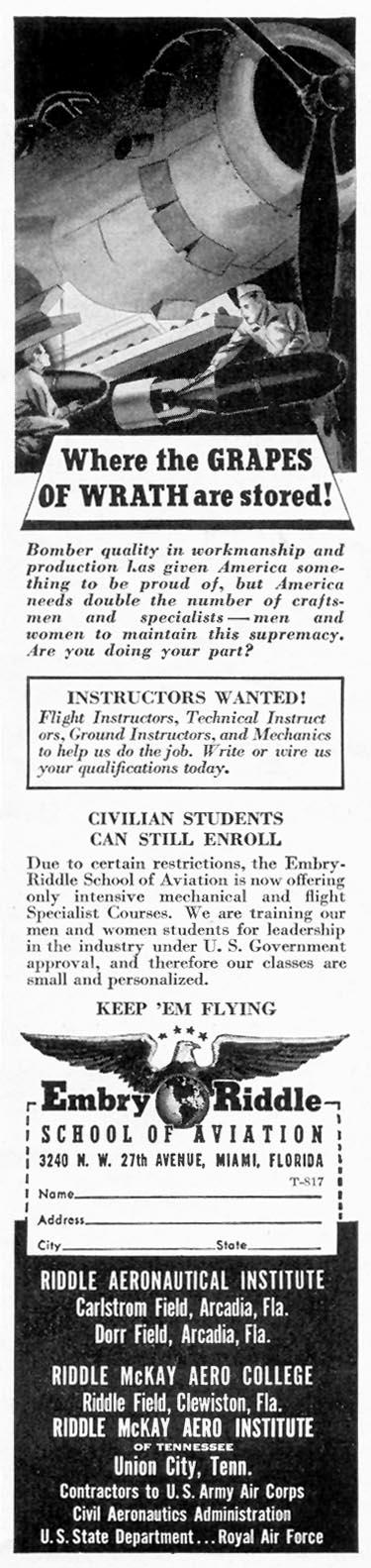FLIGHT SCHOOL TIME 08/17/1942 p. 55