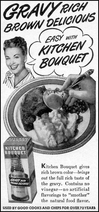 KITCHEN BOUQUET WOMAN'S DAY 01/01/1947 p. 71