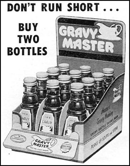 GRAVY MASTER WOMAN'S DAY 02/01/1954 p. 160