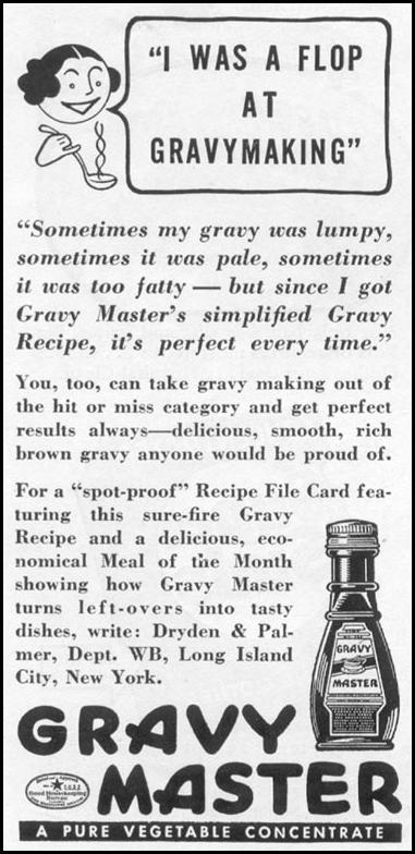 GRAVY MASTER WOMAN'S DAY 05/01/1939 p. 38