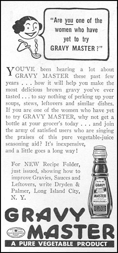 GRAVY MASTER WOMAN'S DAY 05/01/1940 p. 58