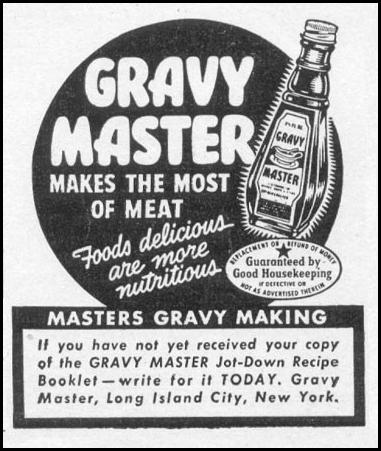 GRAVY MASTER WOMAN'S DAY 05/01/1943 p. 77