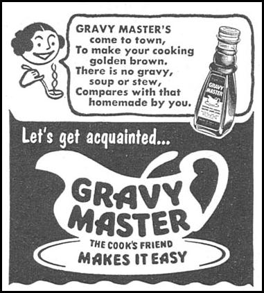 GRAVY MASTER WOMAN'S DAY 06/01/1958 p. 96