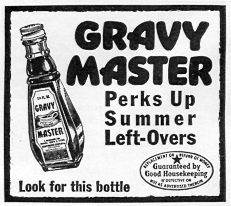 GRAVY MASTER WOMAN'S DAY 07/01/1945 p. 74