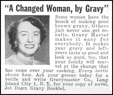 GRAVY MASTER WOMAN'S DAY 08/01/1949 p. 98
