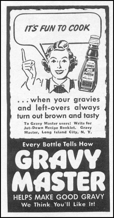 GRAVY MASTER WOMAN'S DAY 09/01/1942 p. 66