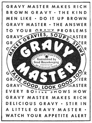 GRAVY MASTER WOMAN'S DAY 10/01/1946 p. 99