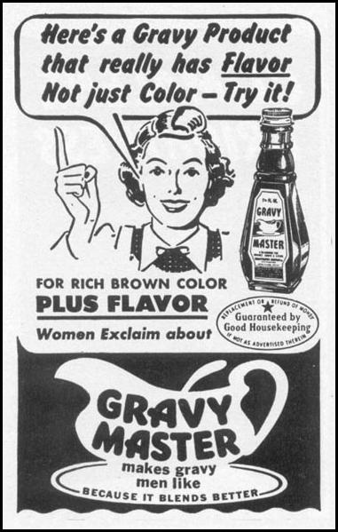 GRAVY MASTER WOMAN'S DAY 10/01/1949 p. 150