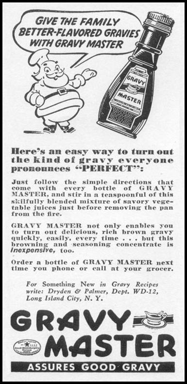 GRAVY MASTER WOMAN'S DAY 12/01/1939 p. 38