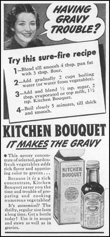 KITCHEN BOUQUET WOMAN'S DAY 12/01/1939 p. 50