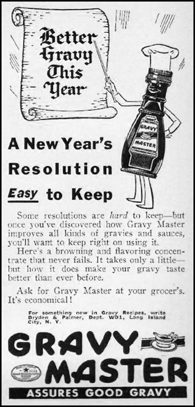 GRAVY MASTER GOOD HOUSEKEEPING 10/01/1940 p. 46