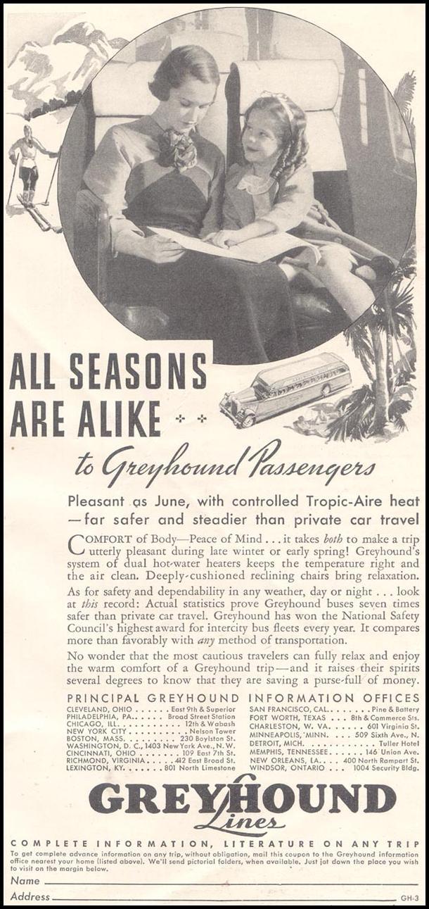 BUS TRAVEL GOOD HOUSEKEEPING 03/01/1935 p. 239