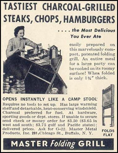 MASTER FOLDING GRILL LIFE 06/23/1941 p. 74